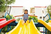 Child, Swing - Play Equipment, Girls, Boys, Caucasian Ethnicity