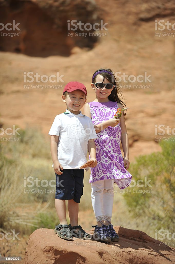 Kids In The Great Outdoors stock photo