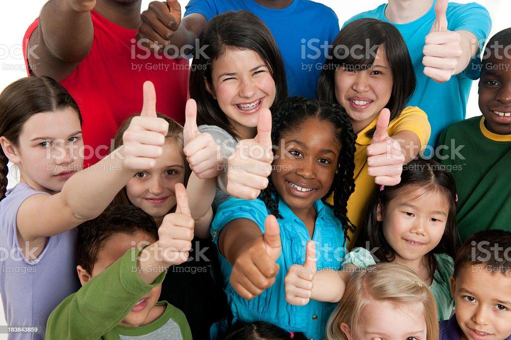 Kids K through 12th grade royalty-free stock photo