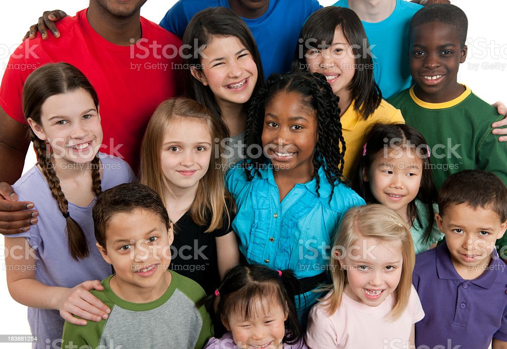 Kids K through 12th grade stock photo