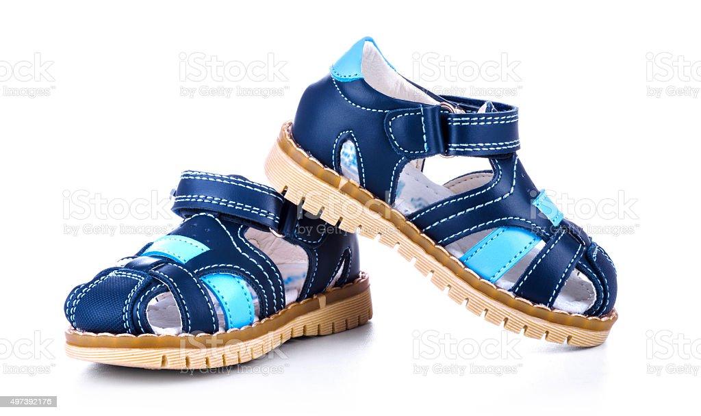 Crianças lather sandals - foto de acervo