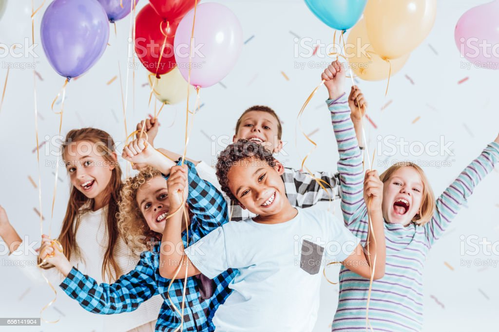 Kids laughing and having fun stock photo