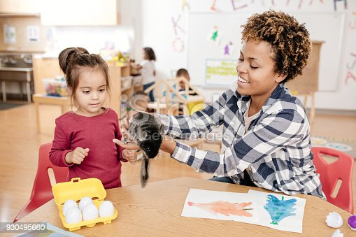 istock Kids learning about domestic pets in kindergarten 930495660