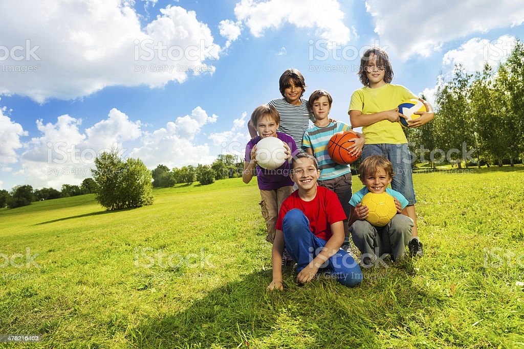 Kids like sports stock photo