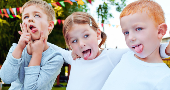 Kids Making A Face Stock Photo - Download Image Now