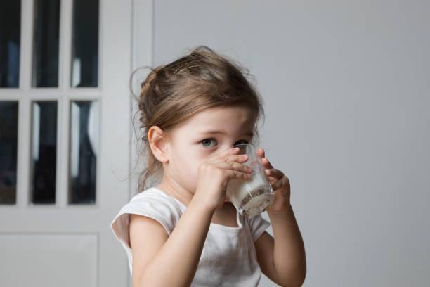 Kids Milk stock photo