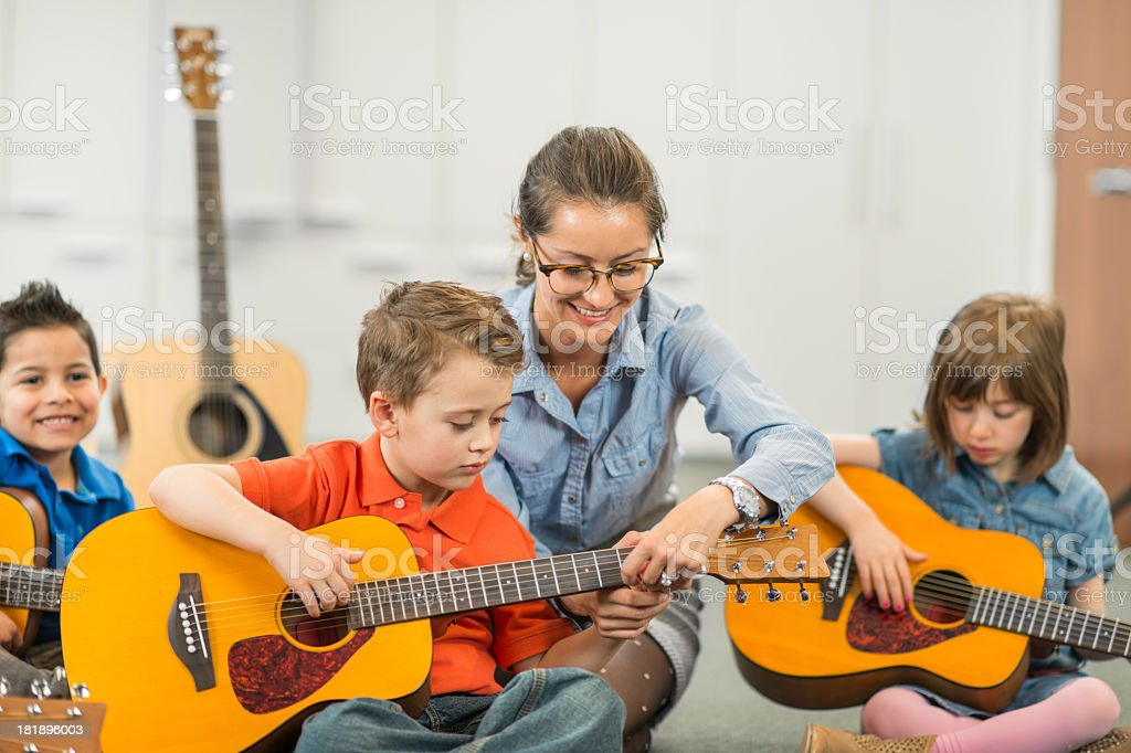 Kids Music Class stock photo