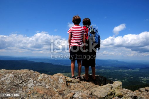 Kids Observing the view at Shenandoah National ParkSee More Hiking and the Great Outdoors Images Here: