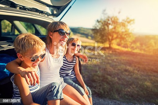 istock Kids on a road trip in Tuscany, Italy 598136576