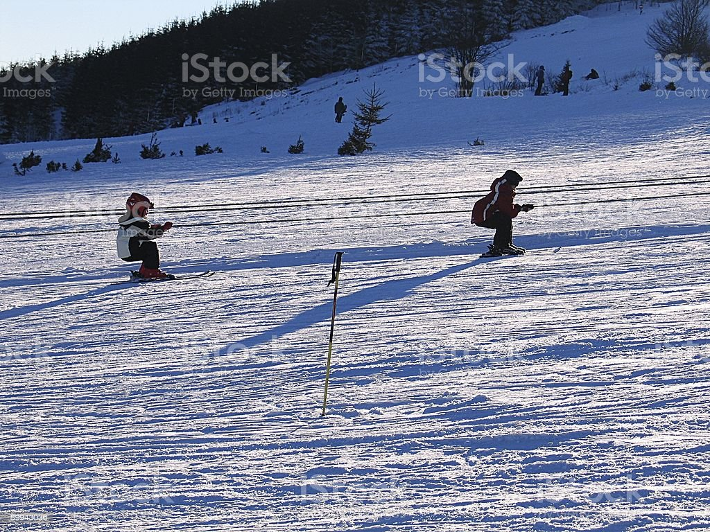 Kids On A Ski Lift Stock Photo Download Image Now Istock