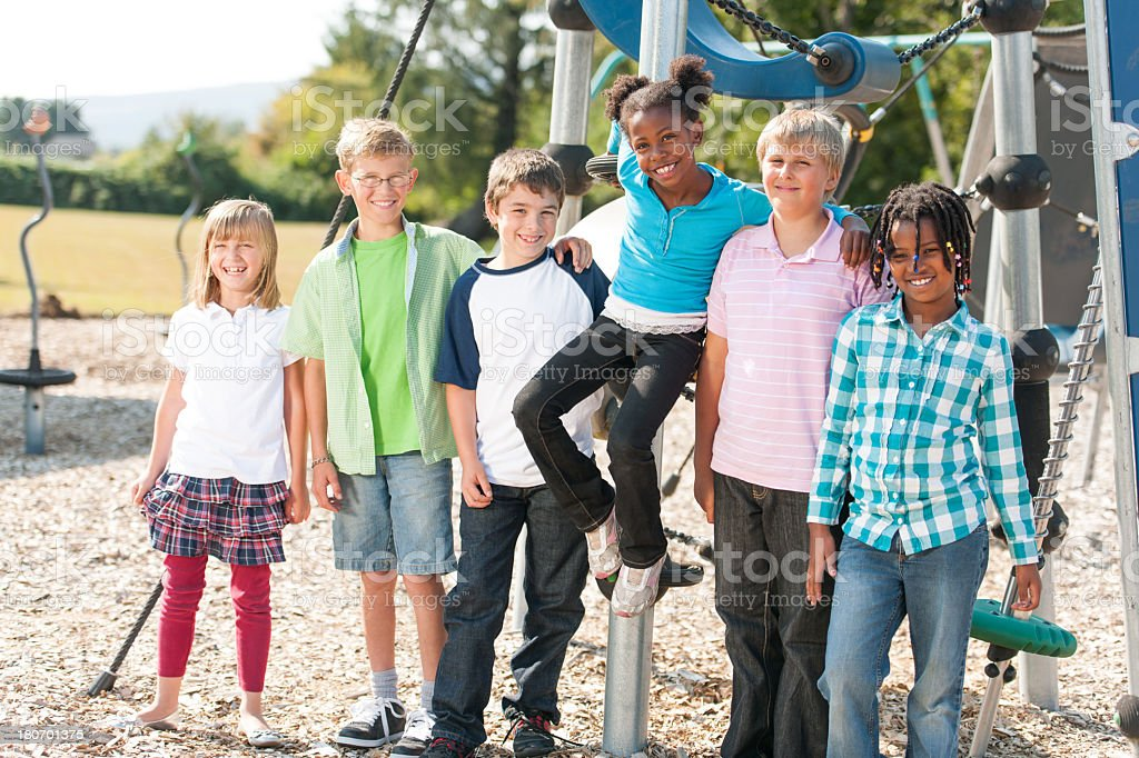 Kids on The Playground royalty-free stock photo