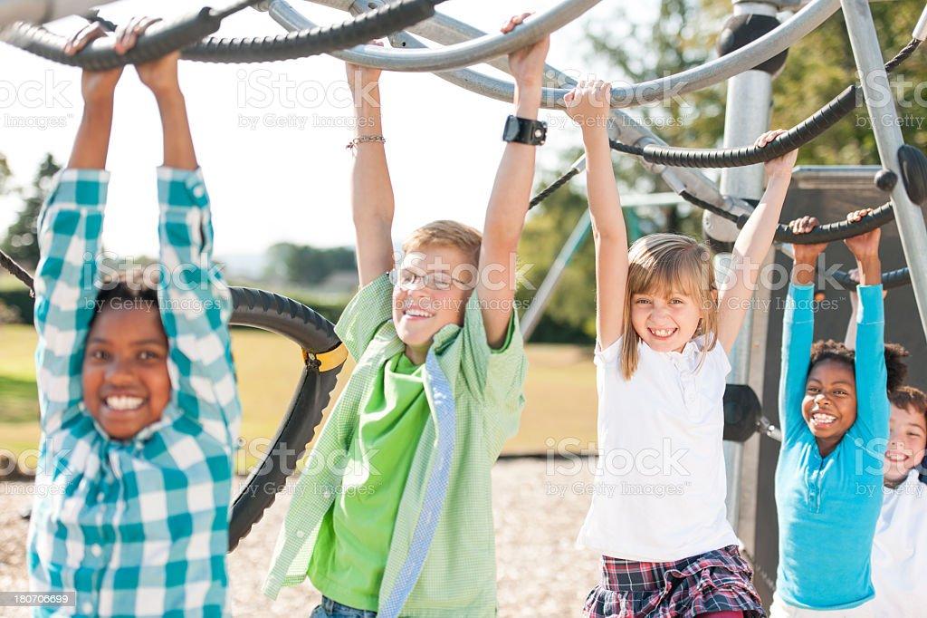 Kids on The Playground stock photo
