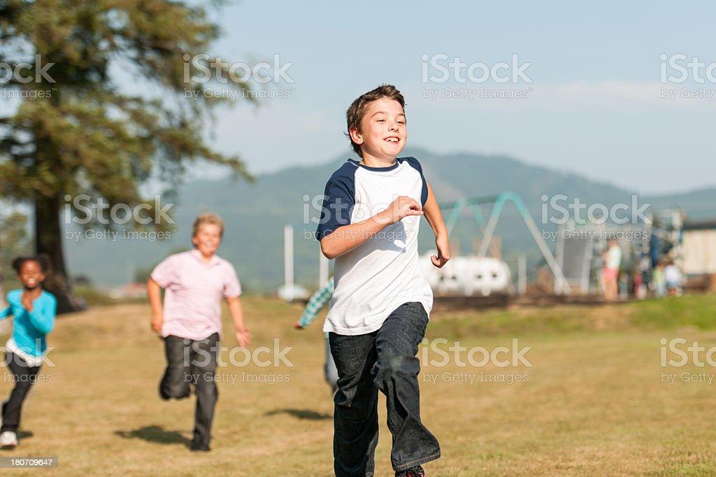 Kids Outside royalty-free stock photo