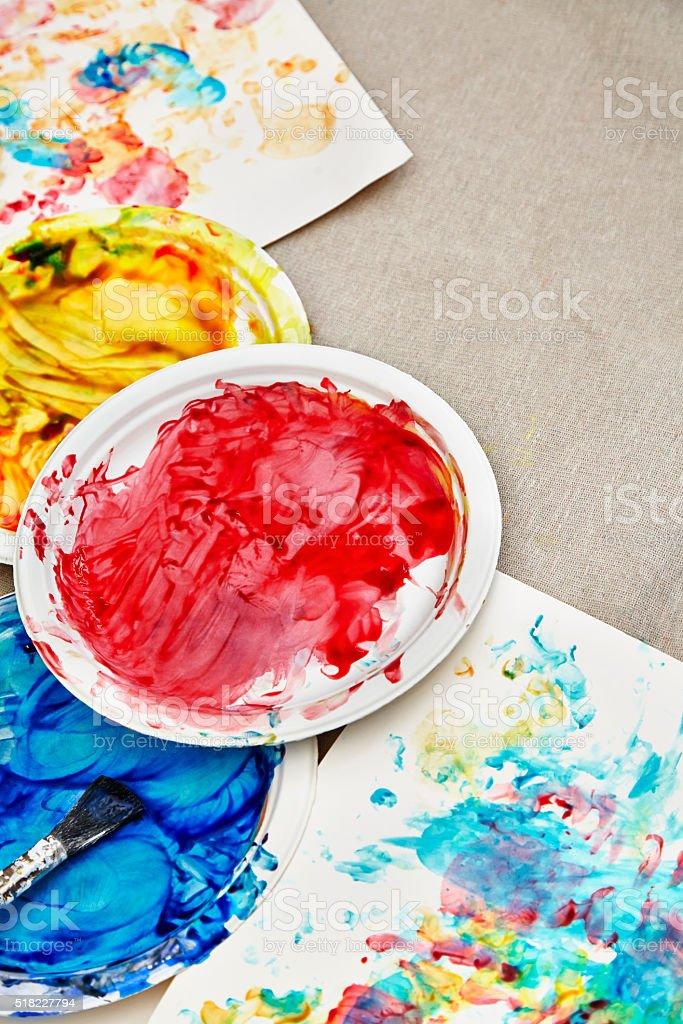 Enfants Peinture Fond Photos Et Plus Dimages De Art Pictural Istock