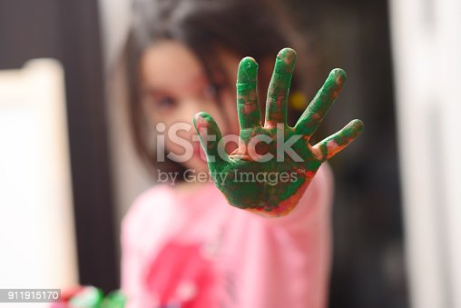 154371635 istock photo Kids painting 911915170