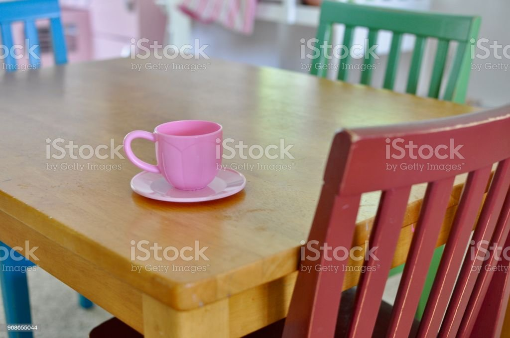 Kids Play Table stock photo