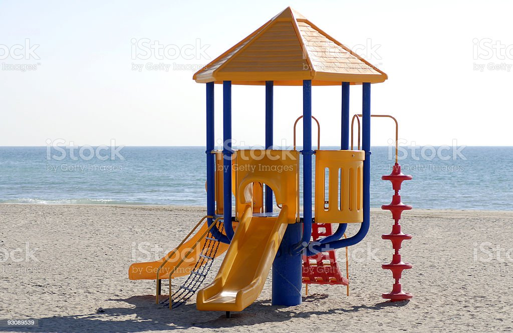 Kid´s playground at the beach royalty-free stock photo