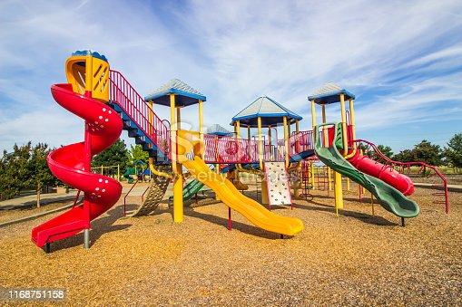 Kids Playground Jungle Gym In Public Park