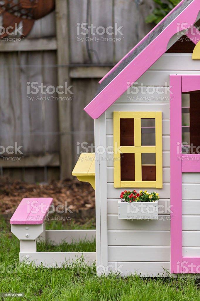 Kids playhouse stock photo
