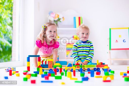 istock Kids playing at day care 476541122