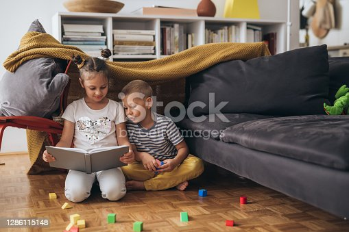 kids having great time playing at home