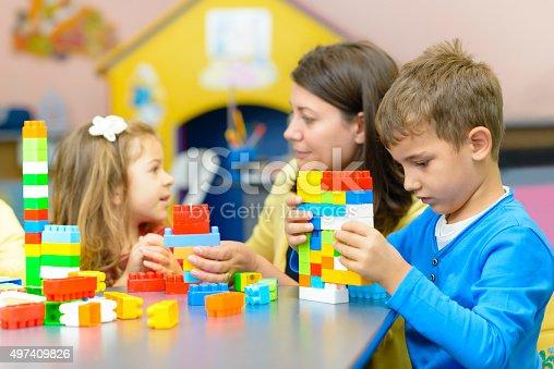 istock Kids Playing at Kindergarten 497409826