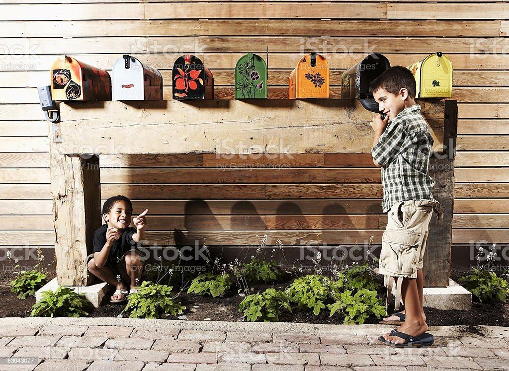子供遊びをあおった ロイヤリティフリーストックフォト