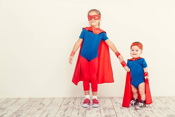 retrato de crianças - baby super hero imagens e fotografias de stock