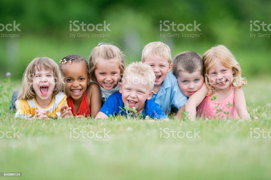 Retrato de niños - foto de stock