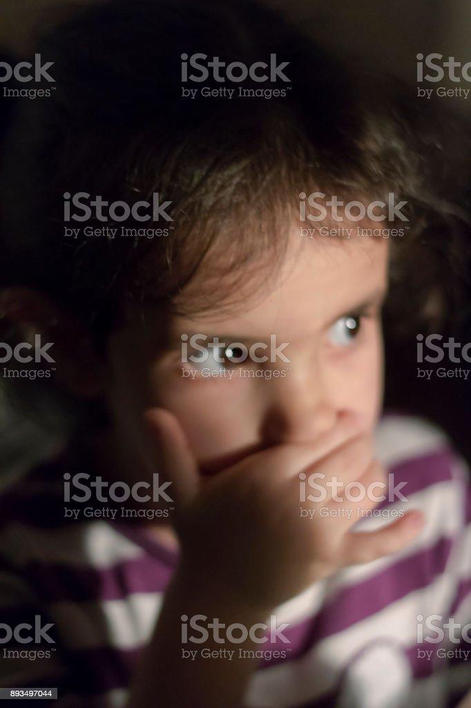 A kid's portraits stock photo
