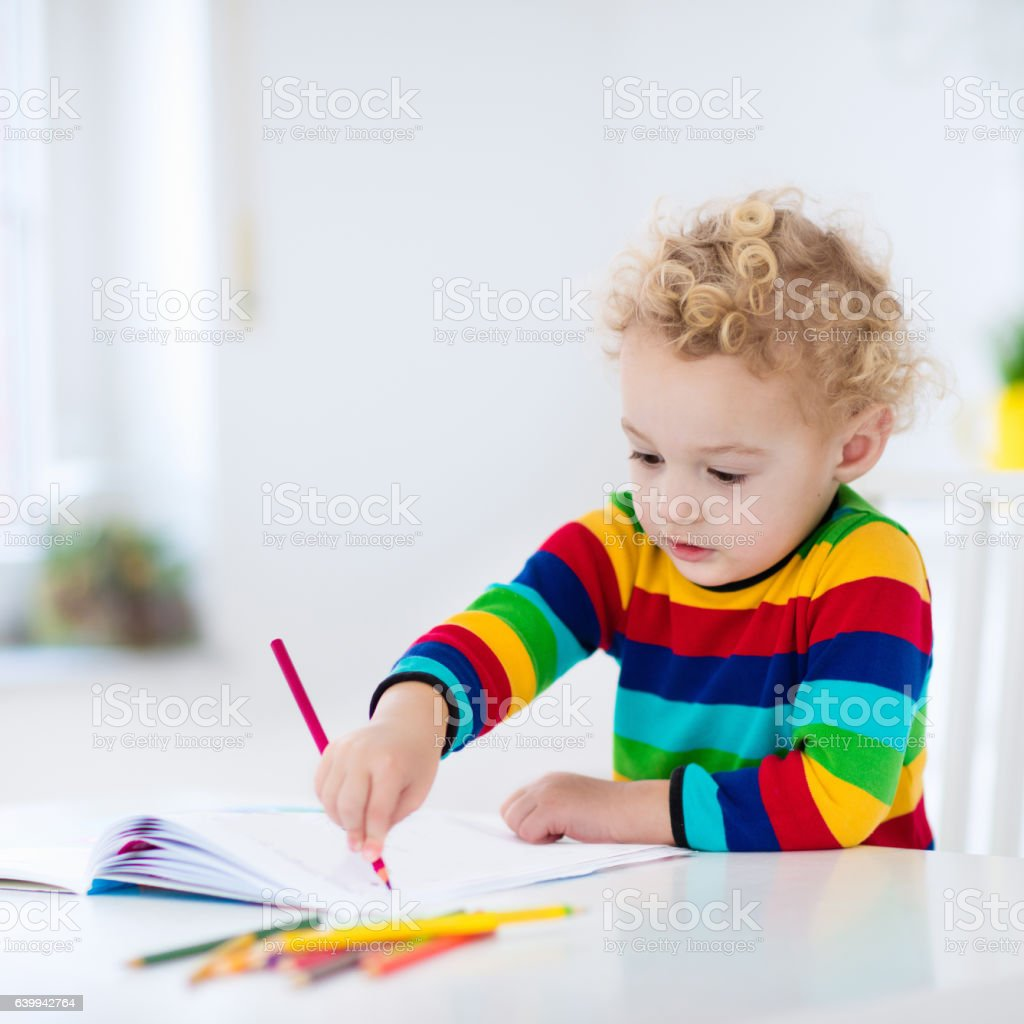 Image of child doing homework