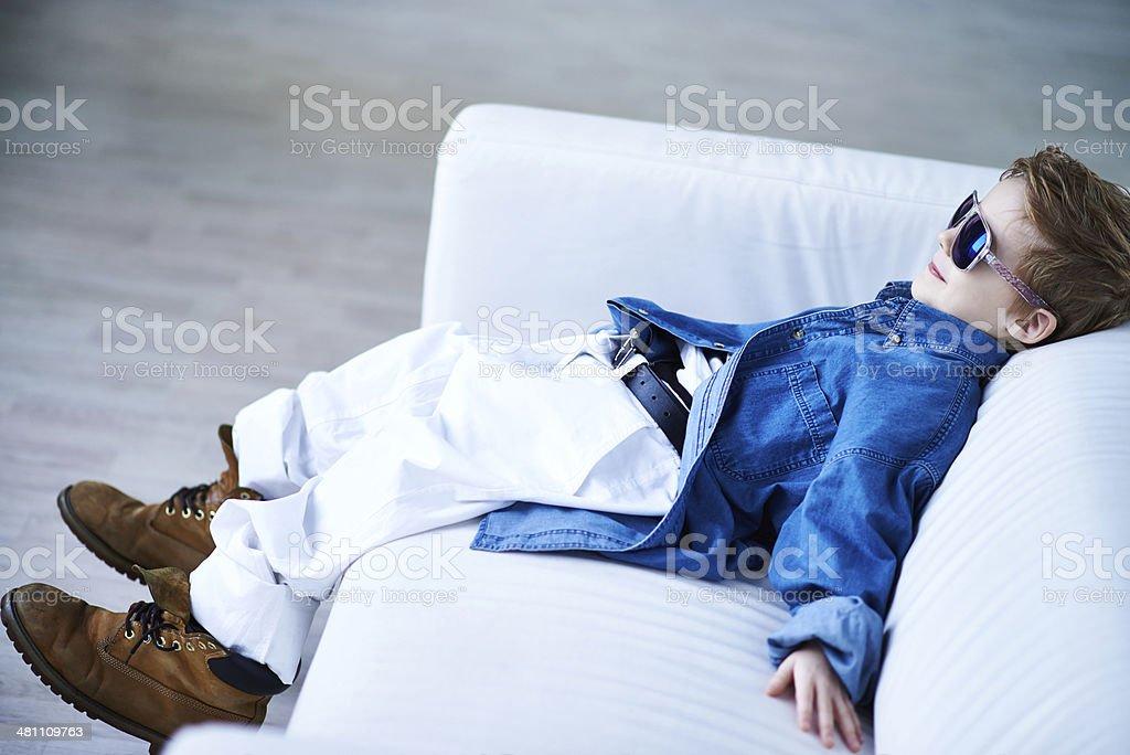 Kid's relax stock photo