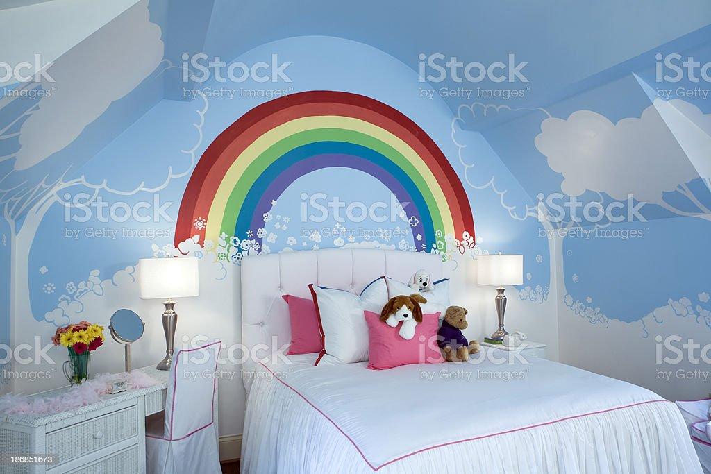 Kids room at angle. royalty-free stock photo
