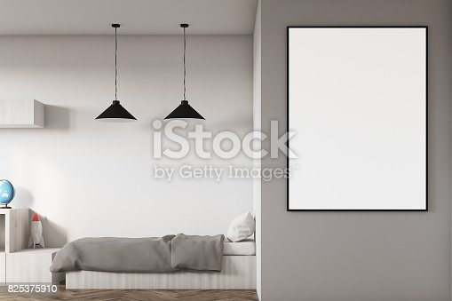 1061427386 istock photo Kids room with a poster close up 825375910