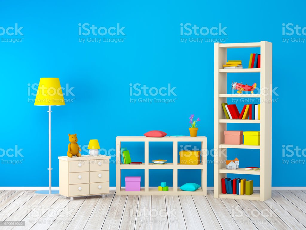 Kids Room With Bookcases Stock Photo Download Image Now