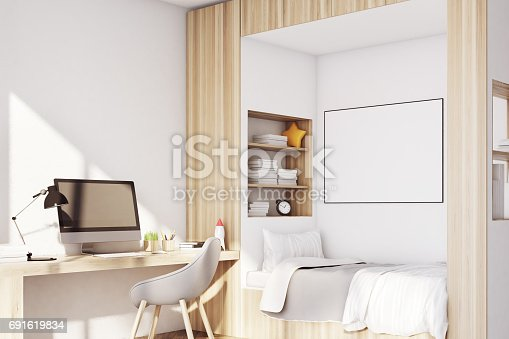 1061427386 istock photo Kids room with pc 691619834
