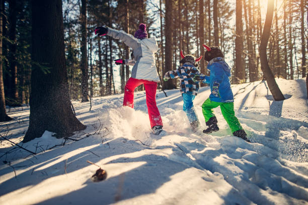 Image result for kids running in winter