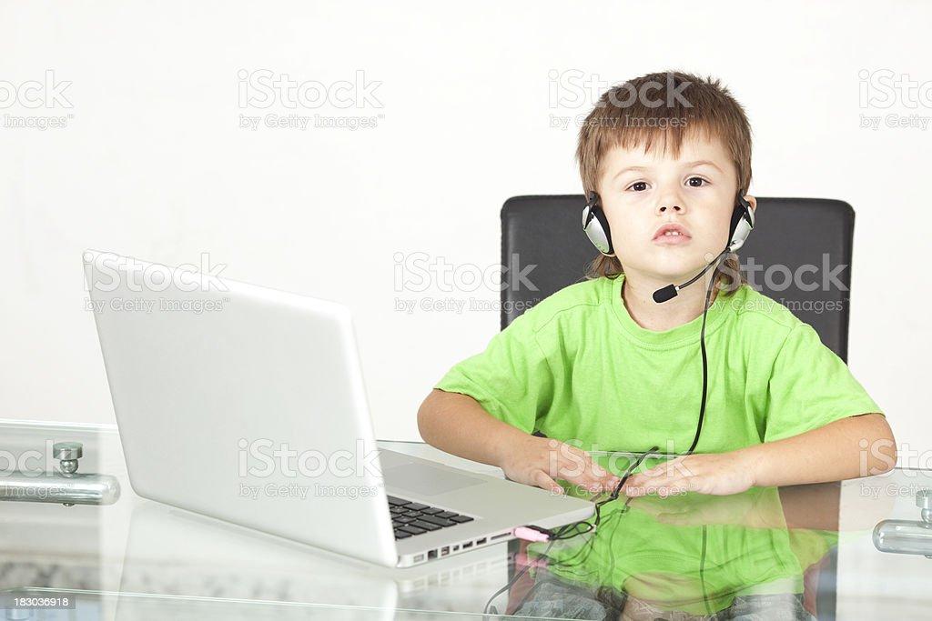 Kids' service online. stock photo