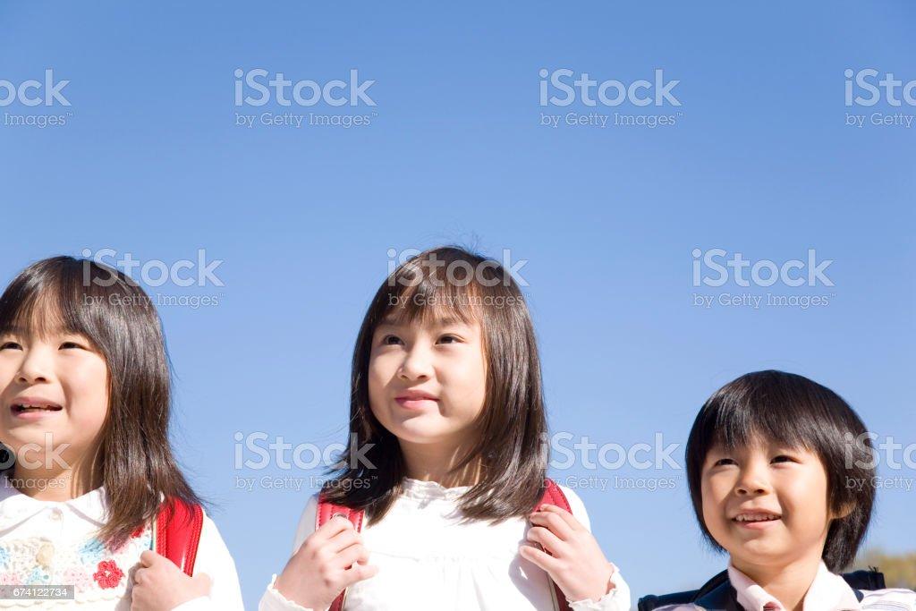 孩子們挎包 免版稅 stock photo