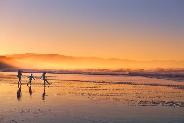 Kids silhouette playing and having fun in beach at sunset picture id910615748?b=1&k=6&m=910615748&s=612x612&w=0&h=pwemvmnfdyho7gkz etnrlipiceovwj4ryqflisf0sq=