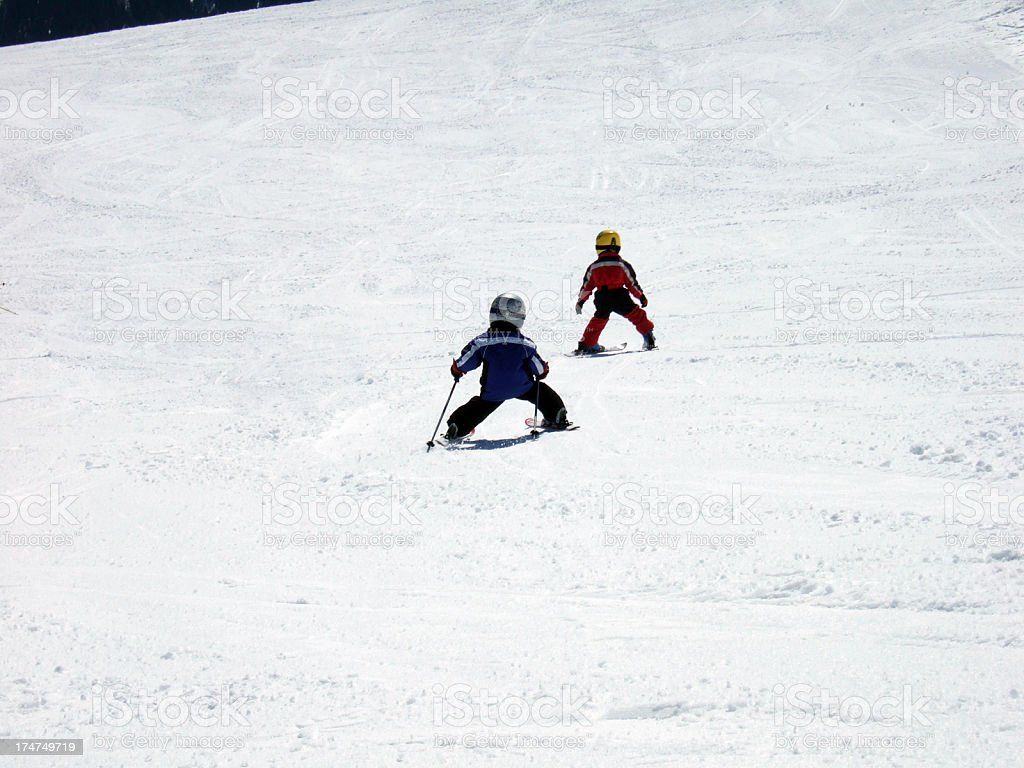 Kids Skiing Stock Photo Download Image Now Istock