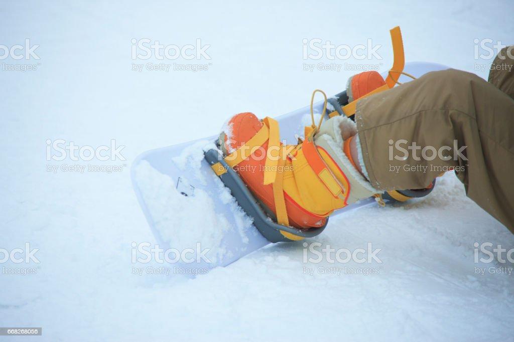 Kids snowboard foto stock royalty-free