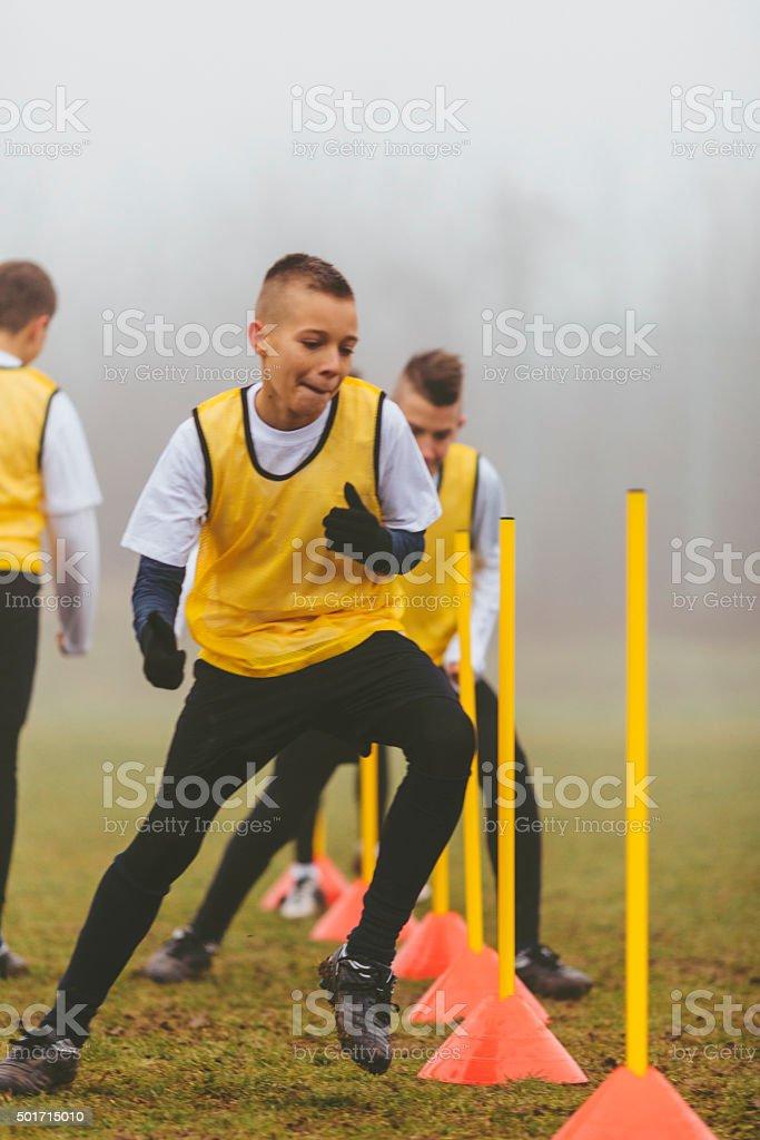 Kids Soccer Training. stock photo