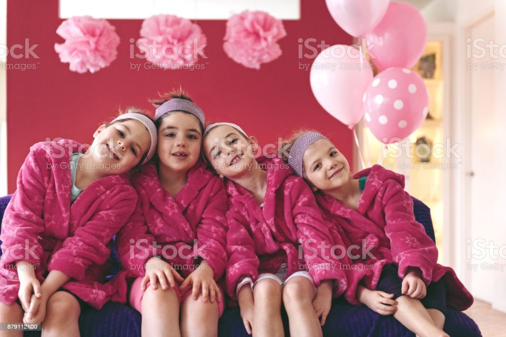 Kids Spa Birthday Party stock photo