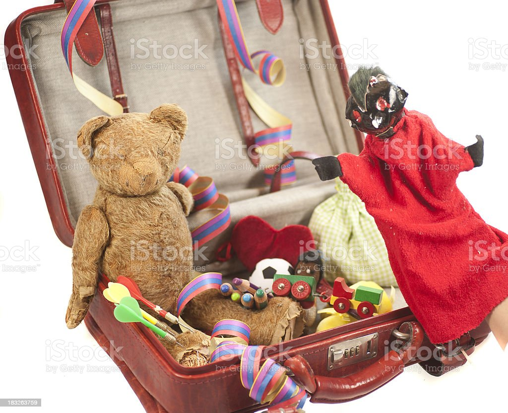 kids suitcase with toys royalty-free stock photo