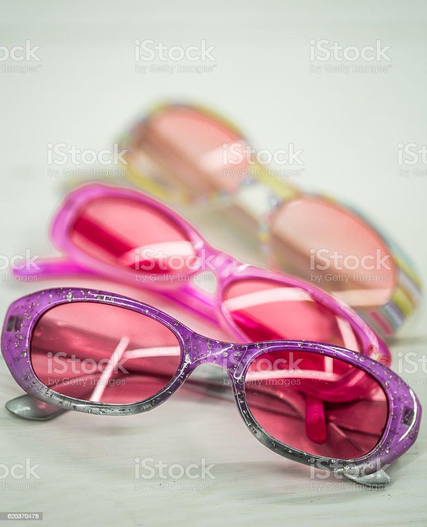 kids sunglasses on white background zbiór zdjęć royalty-free