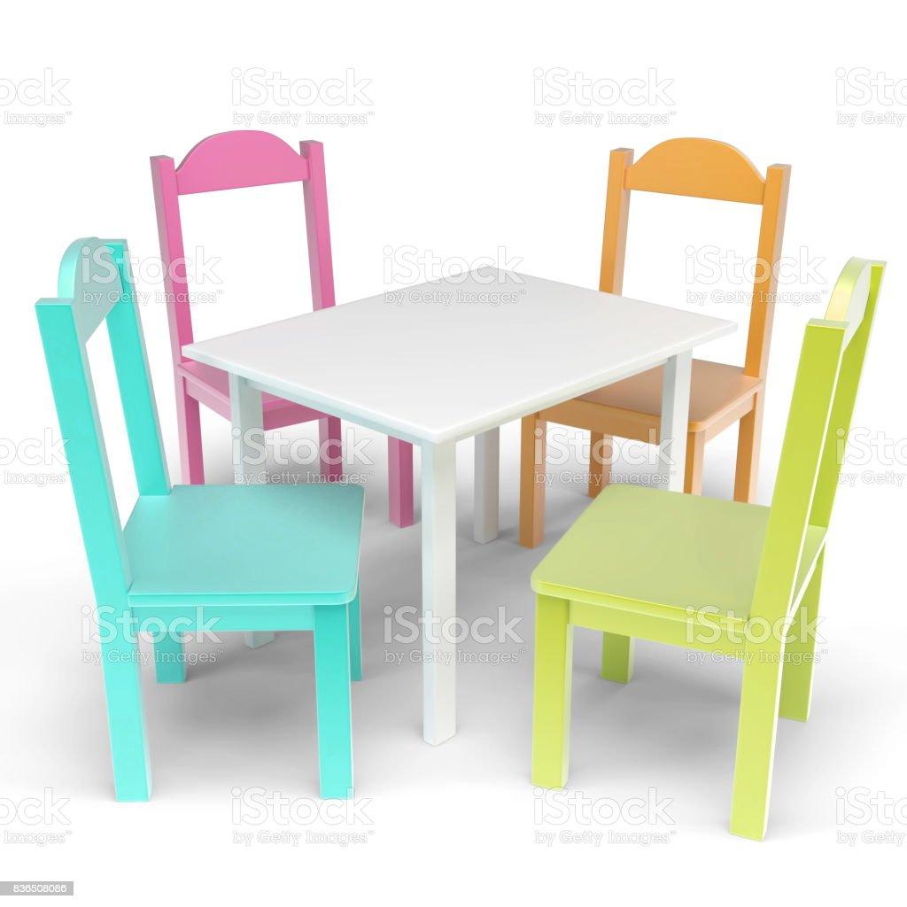 Image of: Foto De Mesa Infantil E Cadeira Conjunto E Mais Fotos De Stock De Arquitetura Istock