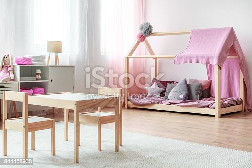 1213866189 istock photo Kids table and small chairs 844458938