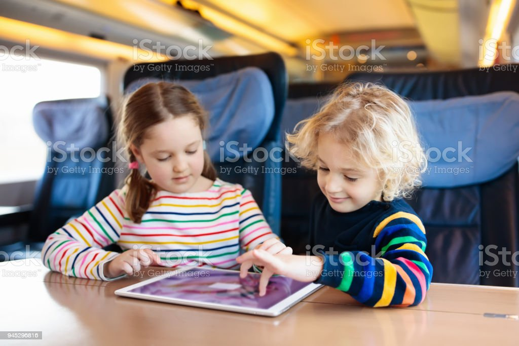 Kids Travel By Train Railway Trip With Child Stock Photo Download Image Now Istock