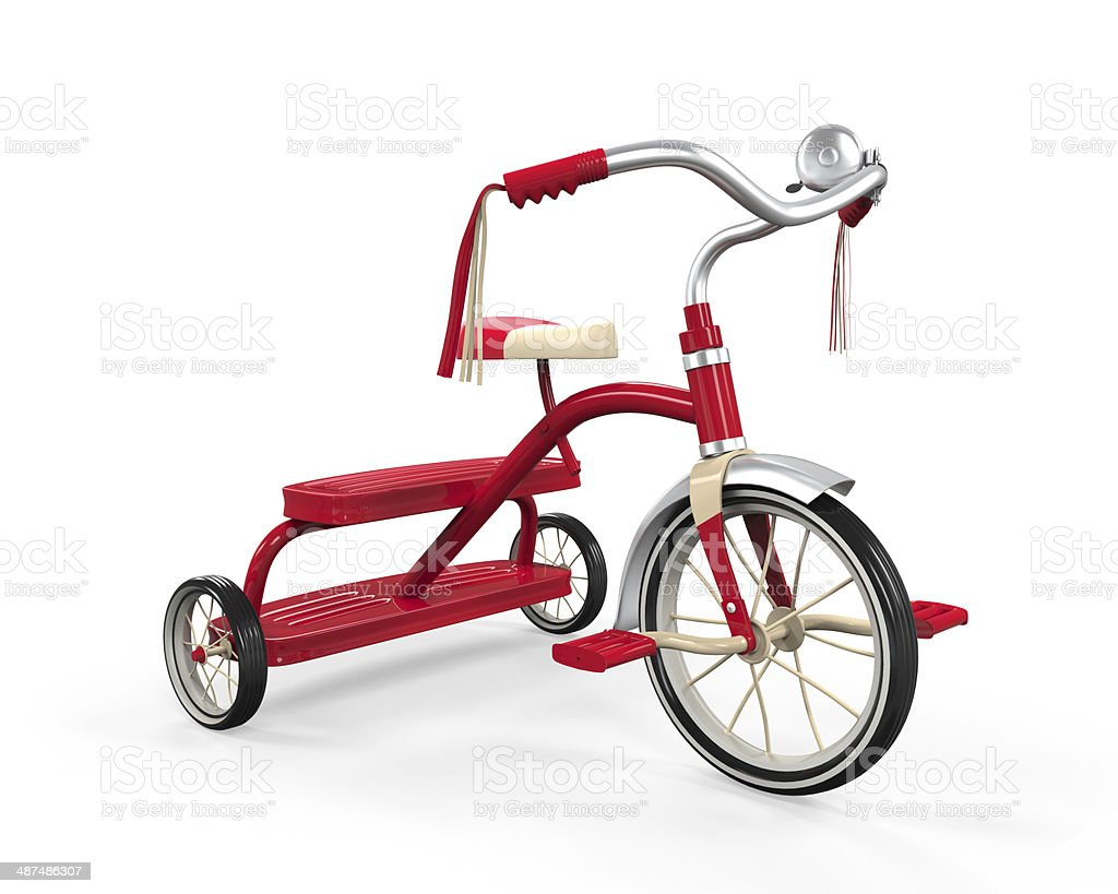 Kids Tricycle Isolated stock photo